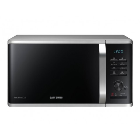 FORNO MICROONDE SAMSUNG MG23K3575CS GRILL 23 L 800 W 6 LIVELLI DI POTENZA ECO MODE DISPLAY LED LIBERA INSTALLAZIONE REFURBISHED ARGENTO