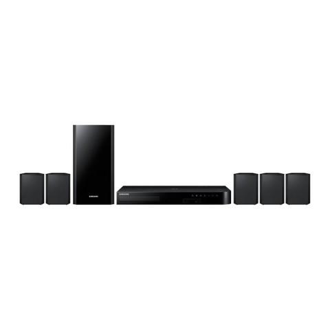 HOME THEATRE SAMSUNG HT J4550 5.1 CANALI 500 W FM BLU RAY 3D CD RIPPING HOST USB RECORDING HDMI BLUETOOTH REFURBISHED NERO