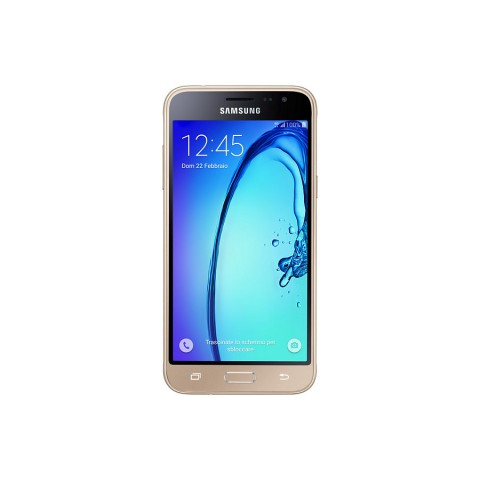 "SMARTPHONE SAMSUNG GALAXY J3 (2016) SM J320F 5"" SUPER AMOLED 8 GB QUAD CORE 4G LTE WIFI BLUETOOTH 8 MP ANDROID REFURBISHED ORO"