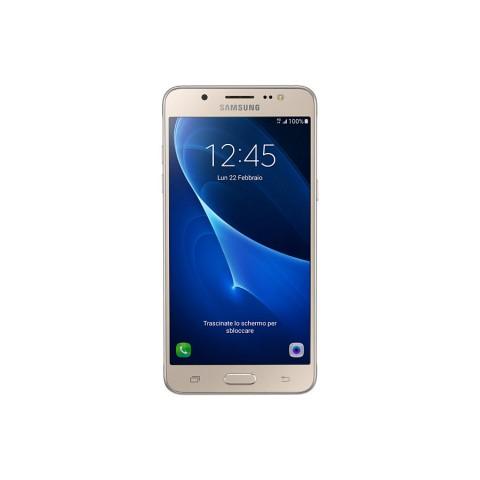 "SMARTPHONE SAMSUNG GALAXY J5 SM J510F 16 GB QUAD CORE 5.2"" SUPER AMOLED 4G LTE WIFI BLUETOOTH 13 MP ANDROID REFURBISHED GOLD"