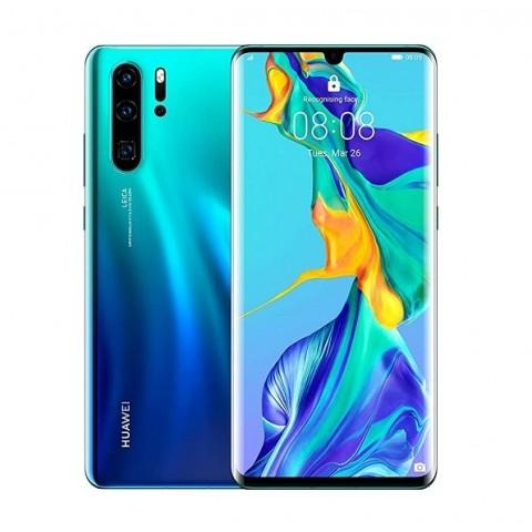 """SMARTPHONE HUAWEI P30 PRO VOG L29 128 GB DUAL SIM 6.47"""" 4G LTE QUADRUPLA FOTOCAMERA OCTA CORE REFURBISHED AURORA BLUE"""