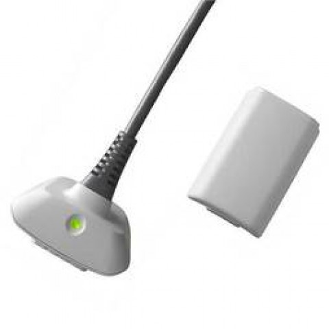 PLAY & CHARGE KIT EAXUS CARICATORE PER XBOX 360 2100 mAH BIANCO
