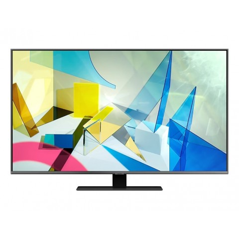 "TV 65"" SAMSUNG QE65Q80TAT QLED Q80T SERIE 8 2020 4K UHD SMART WIFI 3800 PQI HDMI USB REFURBISHED CARBON SILVER"