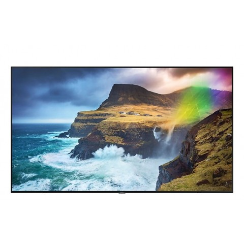 "TV 75"" SAMSUNG QE75Q70RAT QLED Q70R 2019 4K UHD SMART WIFI 3300 PQI USB HDMI REFURBISHED SENZA BASE CON STAFFA A MURO"