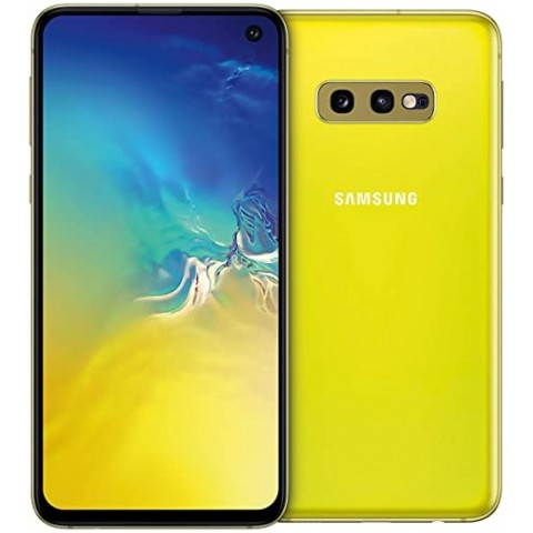 "SMARTPHONE SAMSUNG GALAXY S10e SM G970F 128 GB DUAL SIM 5.8"" 4G LTE WIFI 12 + 16 MP OCTA CORE REFURBISHED CANARY YELLOW"