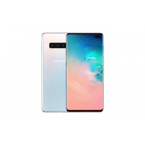 "SMARTPHONE SAMSUNG GALAXY S10 PLUS SM G975F 128 GB DUAL SIM 6.4"" 4G LTE WIFI 12 + 16 + 12 MP OCTA CORE REFURBISHED PRISM WHITE"