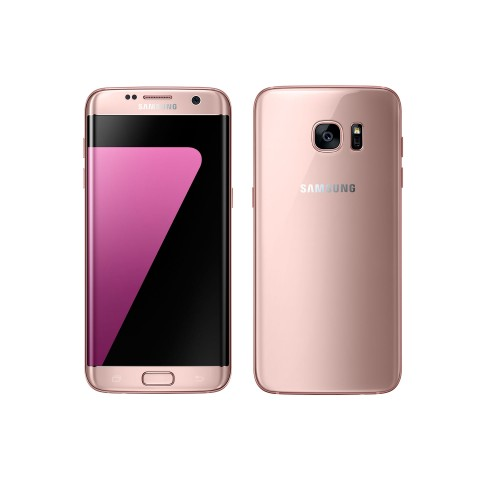 "SMARTPHONE SAMSUNG GALAXY S7 EDGE SM G935F 32GB OCTA CORE 5.5"" DUAL EDGE SUPER AMOLED DUAL PIXEL 12 MP 4G LTE REFURBISHED PINK GOLD"