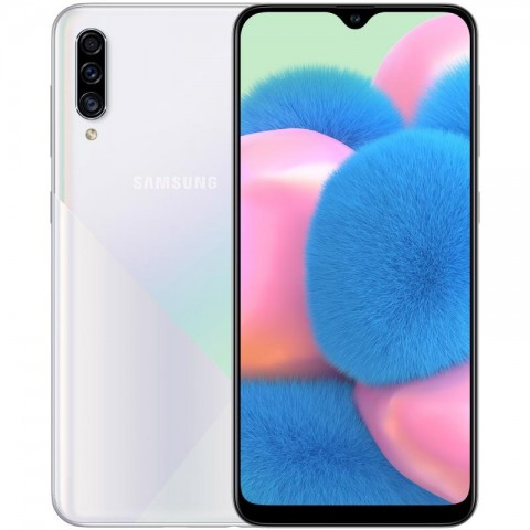 "SMARTPHONE SAMSUNG GALAXY A30s SM A307F DUAL SIM 64 GB OCTA CORE 6.4"" SUPER AMOLED TRIPLA FOTOCAMERA 25 + 5 + 8 MP 4G LTE WIFI BLUETOOTH REFURBISHED PRISM CRUSH WHITE"