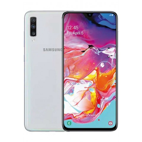 "SMARTPHONE SAMSUNG GALAXY A70 SM A705F DUAL SIM 128 GB OCTA CORE 6.7"" SUPER AMOLED TRIPLA FOTOCAMERA 32 + 5 + 8 MP 4G LTE WIFI BLUETOOTH REFURBISHED BIANCO"