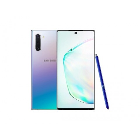 "SMARTPHONE SAMSUNG GALAXY NOTE 10 SM N970F DUAL SIM 6.3"" DYNAMIC AMOLED 256 GB OCTA CORE 4G LTE WIFI ANDROID REFURBISHED AURA GLOW"