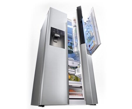 FRIGORIFERO LG SIDE BY SIDE GS9366NECZ 614 L ACCIAIO DISPENSER ACQUA ...